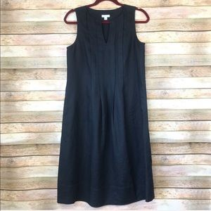 J. Jill 100% Linen Black Sheath Dress A-556